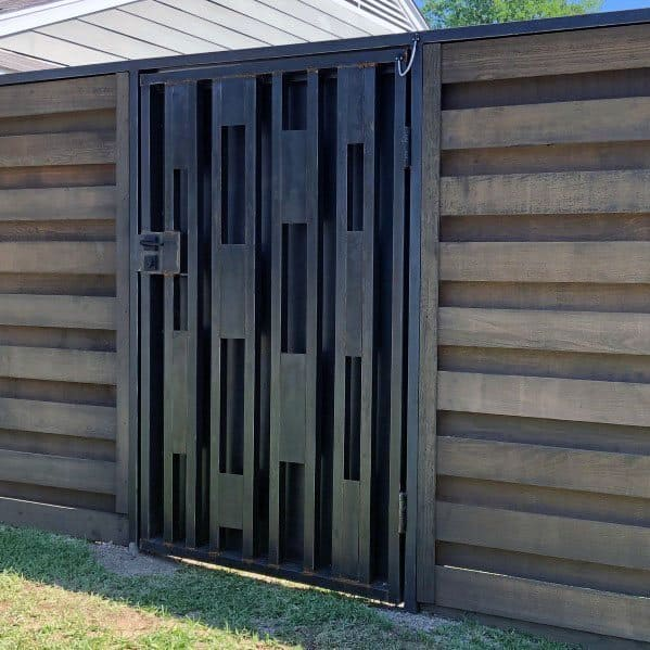 Exceptional Modern Wood Fence With Metal Gate Ideas