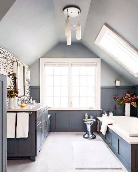 Exceptional Navy Blue Walls Bathroom Ideas