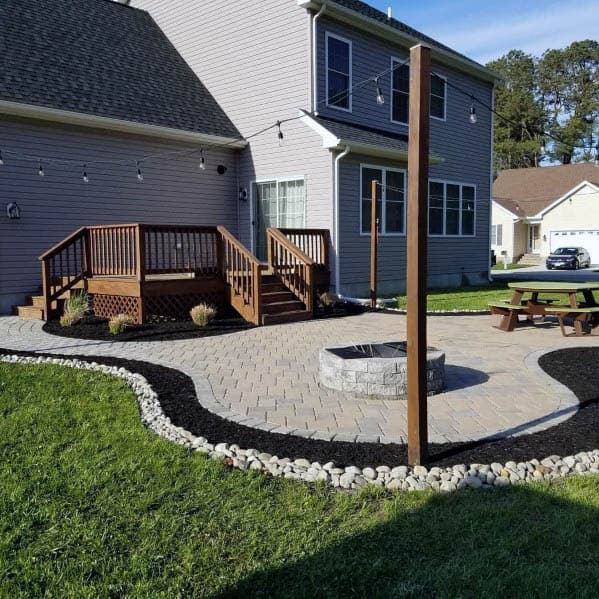 Exceptional Paver Patio Backyard Firepit Ideas