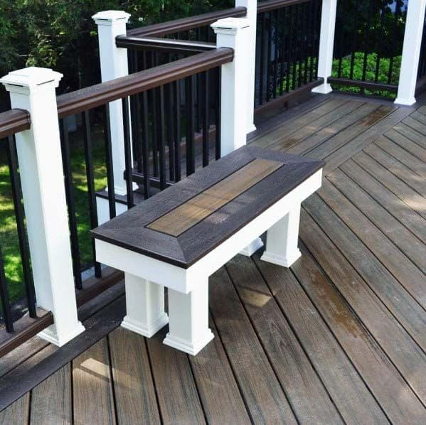 Built In Bench Seating: Top 60 Best Deck Bench Ideas