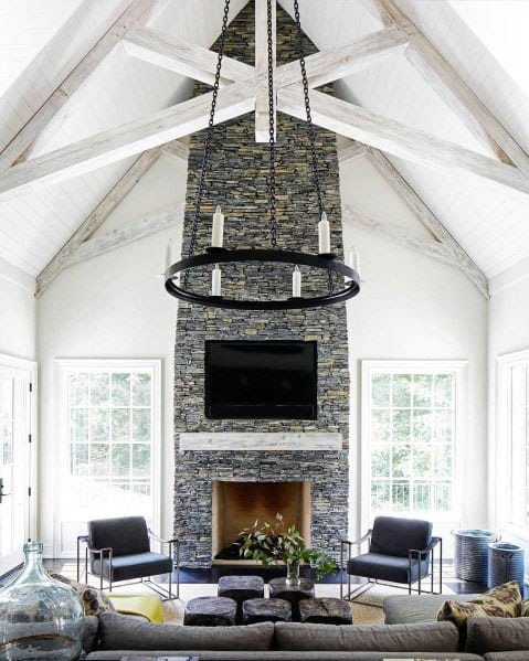 Exceptional Vaulted White Painted Wood Ceiling Ideas