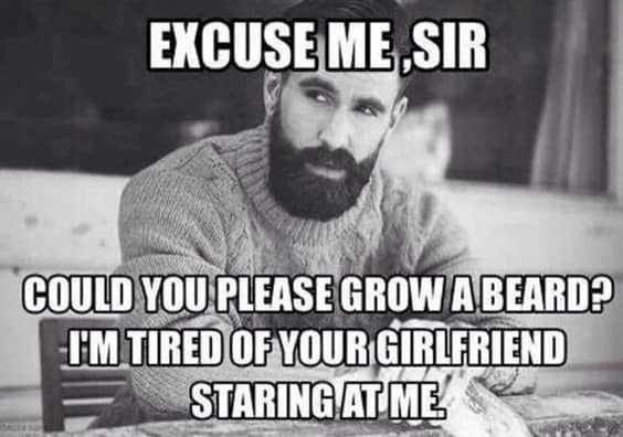 Excuse Me Sir Could You Please Grow A Beard Meme