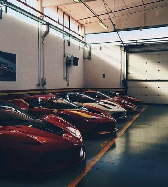 Exotic Car Line Up In Dream Garage