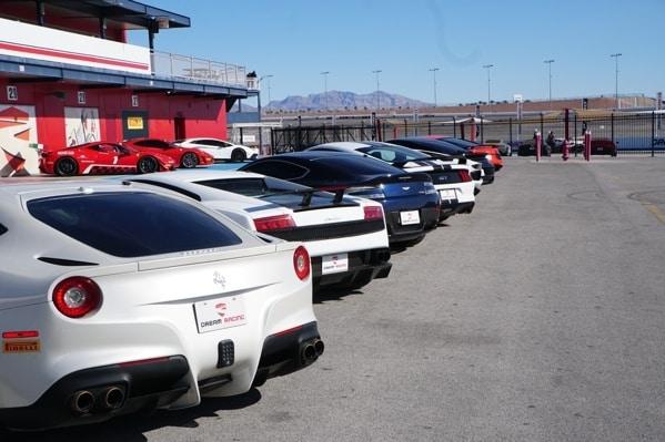 Exotic Car Selection At Dream Racing