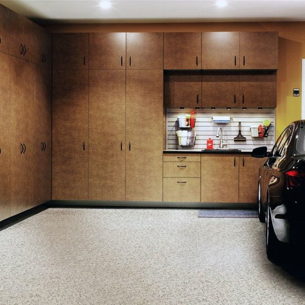 Exotic Wood Garage Cabinets Ideas
