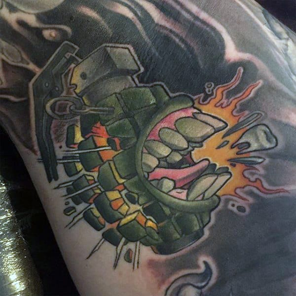 Explosion Tattoo Male Armpits