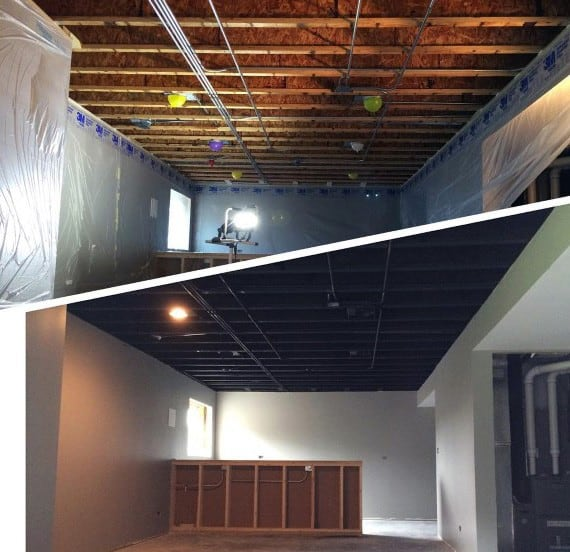 Top 60 Best Basement Ceiling Ideas Downstairs Finishing