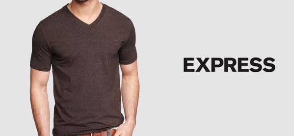 Express V Neck T-Shirts For Men