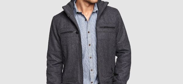 Express Wool Blend Bomber Men's Winter Jacket
