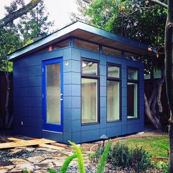 Exterior Backyard Modern Shed Design