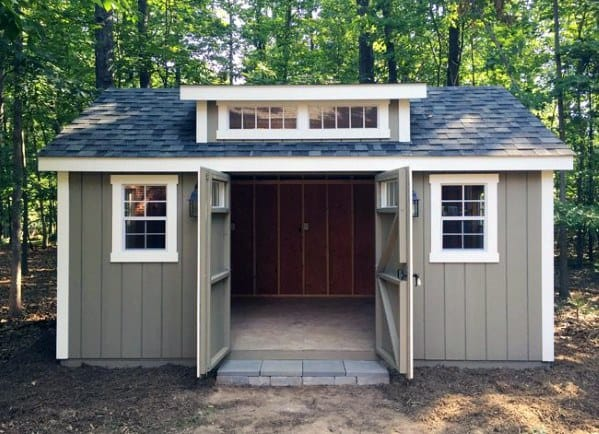 Exterior Designs Backyard Storage Shed
