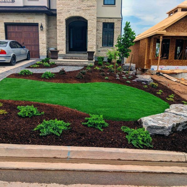 Exterior Designs Front Yard Landscapings