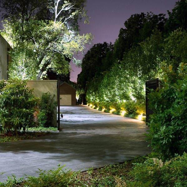 Exterior Designs Landscape Lighting Driveway