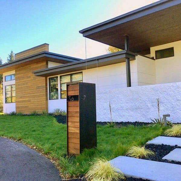 Exterior Designs Mailbox Landscaping Modern