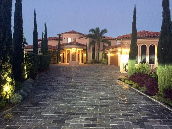 Exterior Driveway Landscaping Design