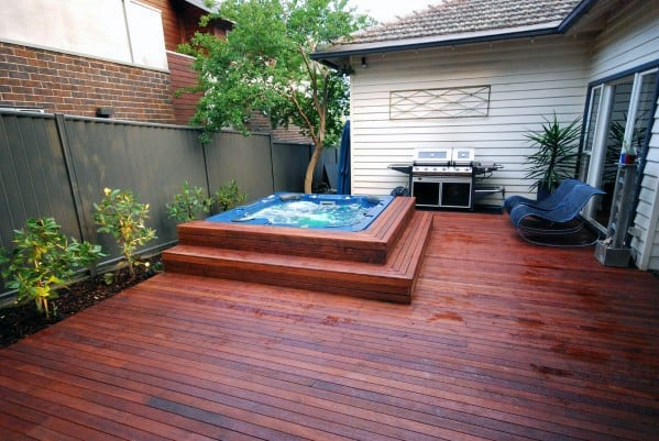 Exterior Hot Tub Deck Design