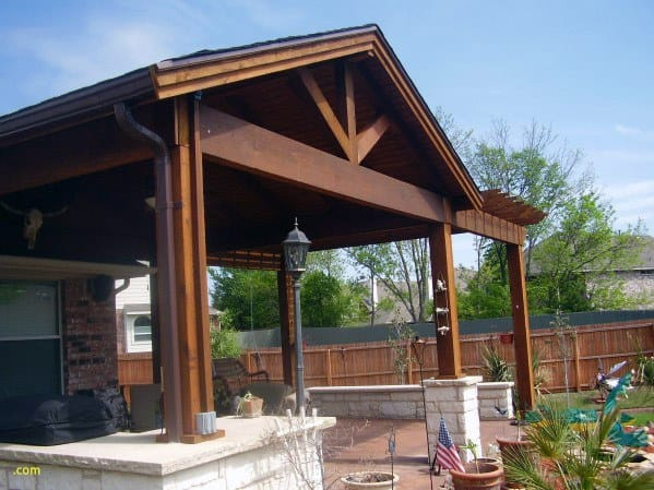 Top 60 Patio Roof Ideas - Covered Shelter Designs on Backyard Overhang Ideas id=86324