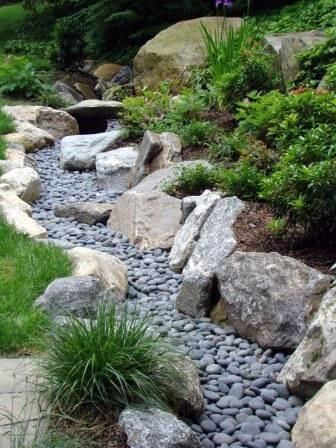 Exterior Ideas River Rock Landscaping