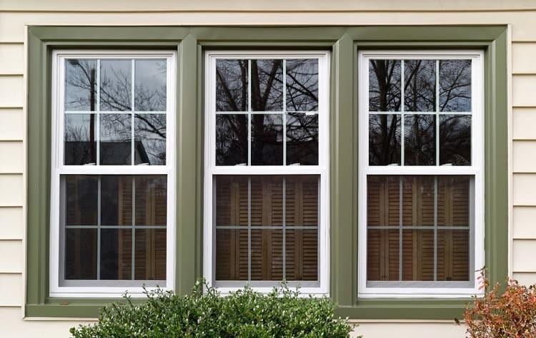 Exterior Window Green Trim For Vinyl Siding