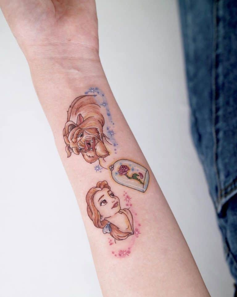 Extraordinary Disney Tattoo Beauty And The Beast