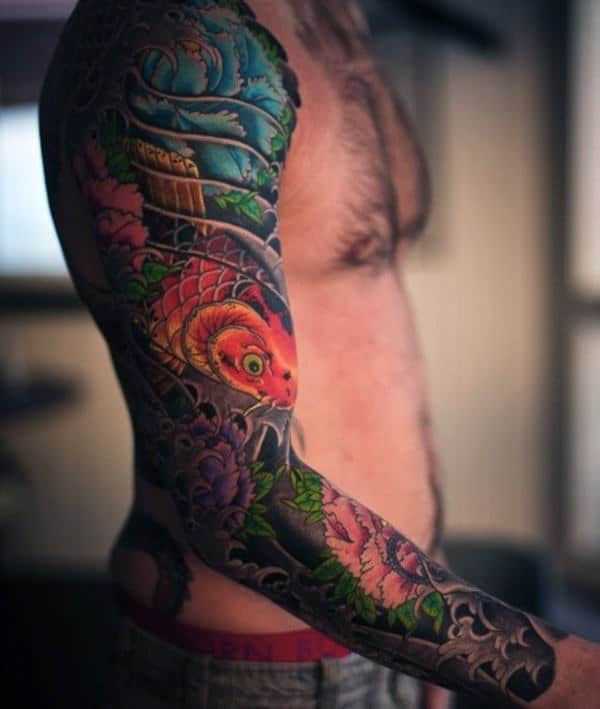 Extraordinary Japanese Sleeve Tattoo Males