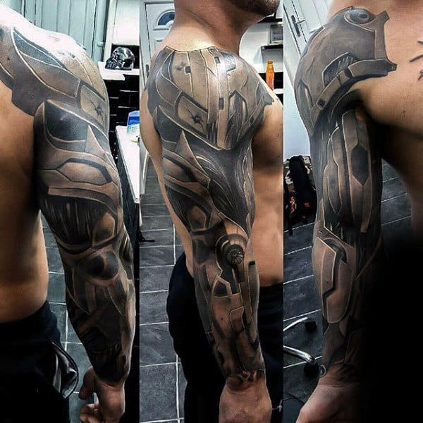 Eye Catching Manly Tattoo Male Full Sleeves
