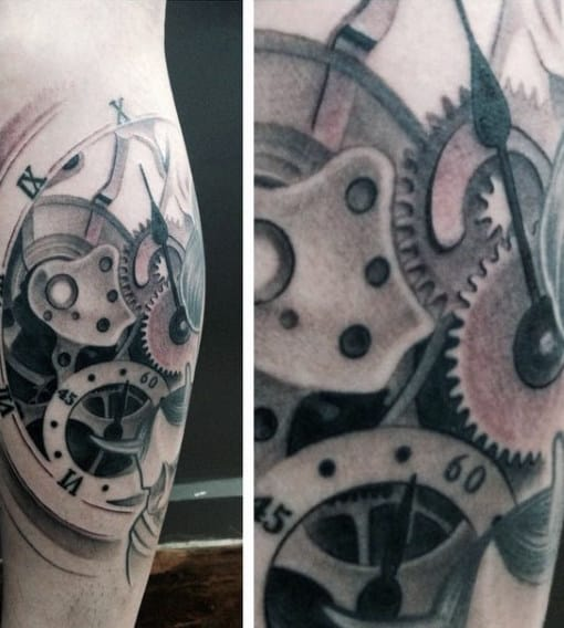 Eye Clock Tattoo For Men