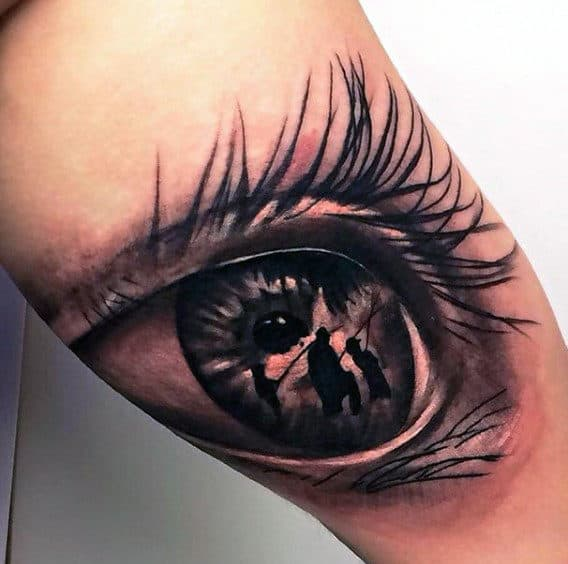 Eye Fish Men's Tattoos On Bicep