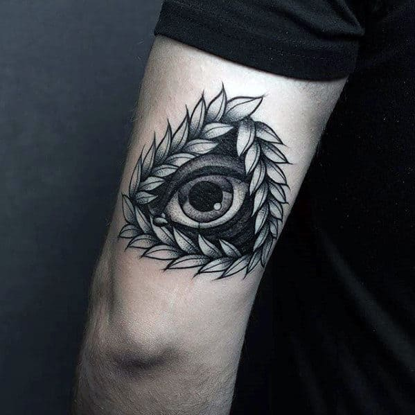 Eye Of Providence Tricep Guys Old School Tattoo Designs