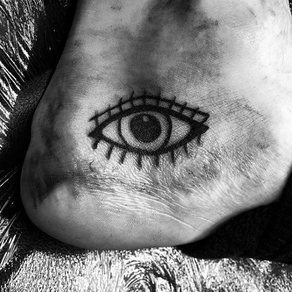 Eye Small Creative Mens Traditional Old School Foot Tattoos