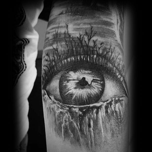 Eye Waterfall Ditch Tattoo Ideas For Males