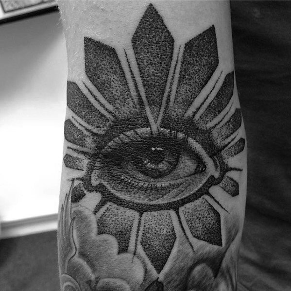 Eye With Dotwork Ditch Male Tattoo Designs