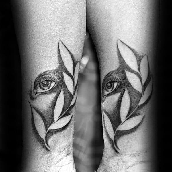Eye With Negative Space Wheat Mens Virgo Tattoos On Wrist