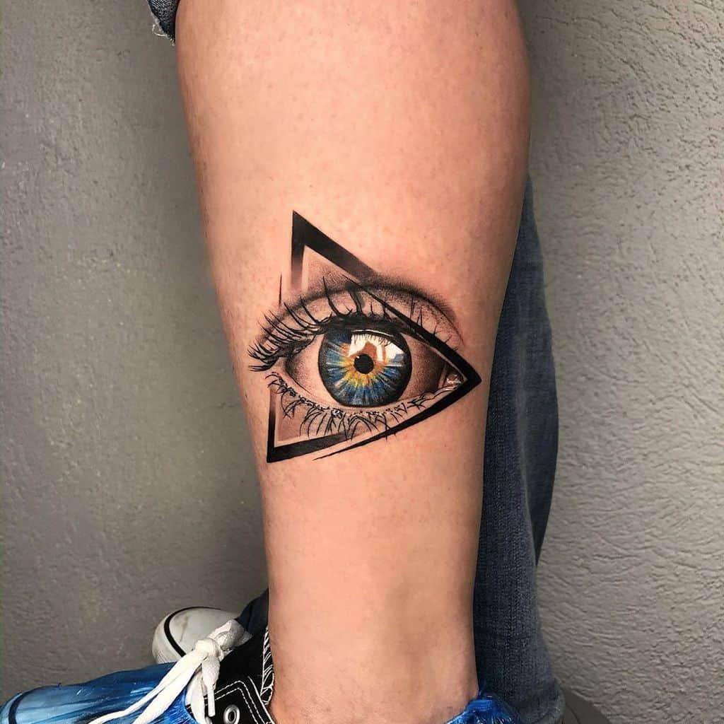 Eyelashes Eye Tattoo