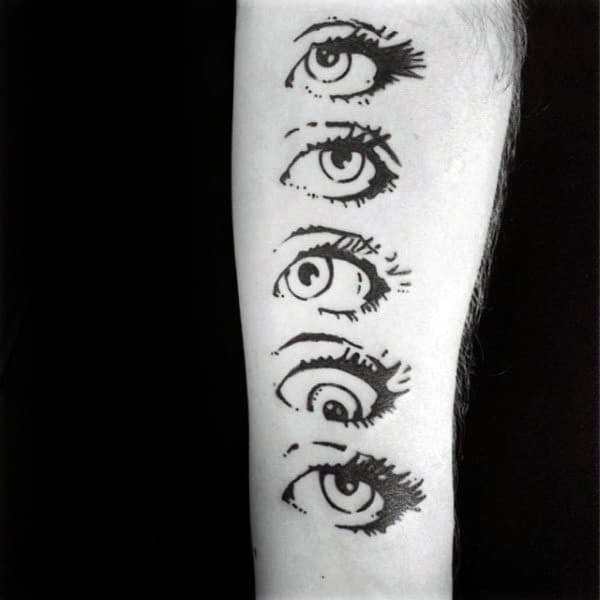 Eyes Pop Art Mens Forearm Tattoos