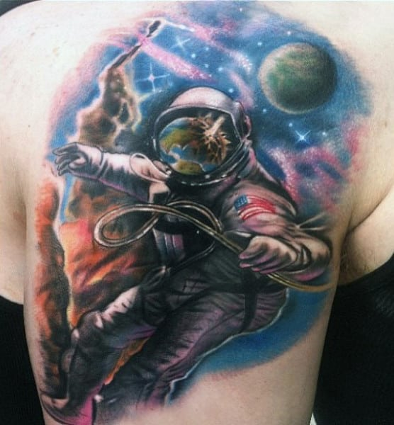 100 Astronaut Tattoo Designs For Men - Spaceflight Ideas