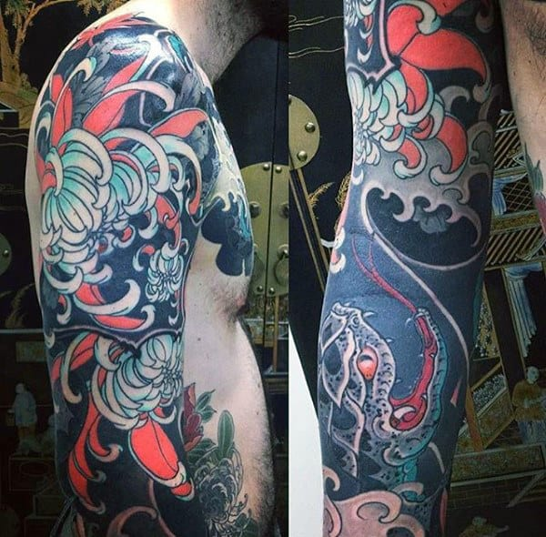 Fab Japanese Sleeve Tattoo For Men