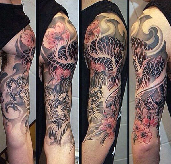 Fabulous Dragon Tattoo Male Full Sleeves