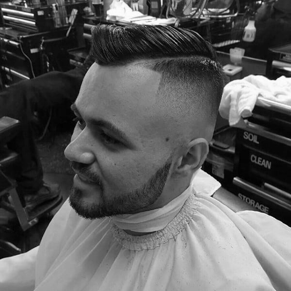 Fade Comb Over Haircut For Guys