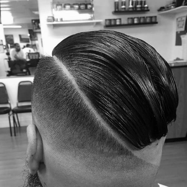 Fade Comb Over Haircut For Men