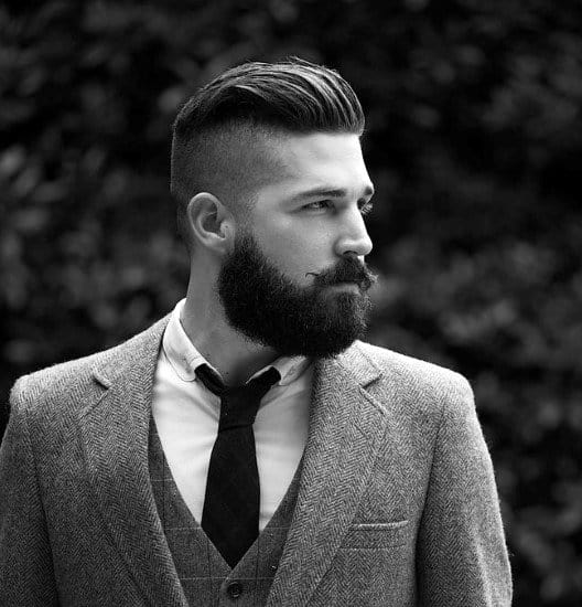 Fade Haircut With Beard For Men