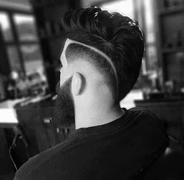 Fade Sides Hair Styles Men Medium