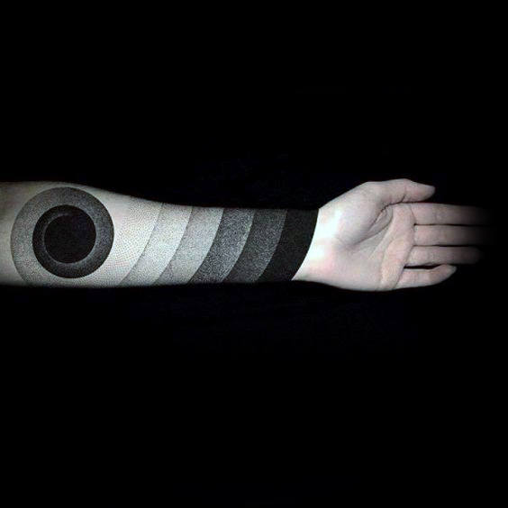 Faded Amazing Mens Fibonacci Spiral Forearm Sleeve Tattoo Design Ideas