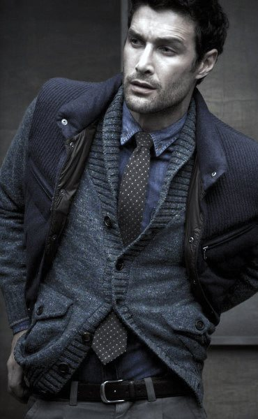 Fall Outfits Male Style Layered Fashion With Blue Color