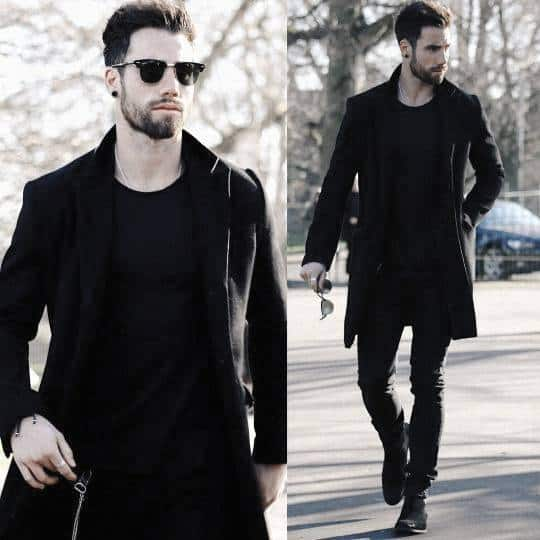 Fall Season Mens Fashion All Black Outfits Style Inspiration