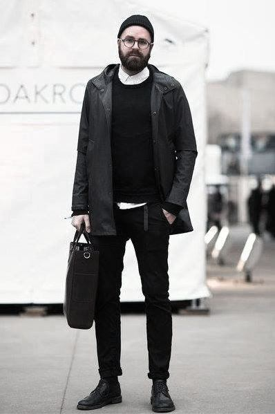 Fall Stylish All Black Outfits For Gentlemen