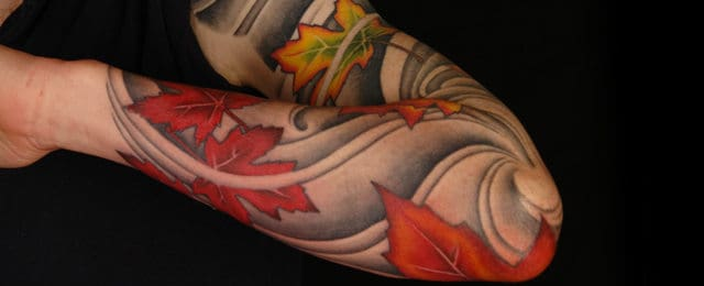 Fall Tattoos For Men