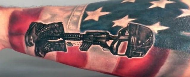 Fallen Soldier Tattoo Designs For Men