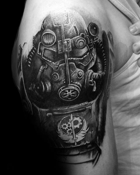 Fallout Arm 3d Tattoo Video Game Ideas On Guys