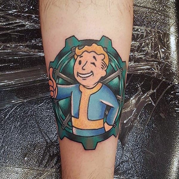 Fallout Small Male Video Game Tattoo Designs